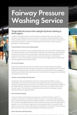 Fairway Pressure Washing Service
