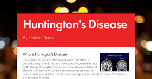Huntington's Disease | Smore