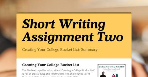 short writing assignment 2 technology