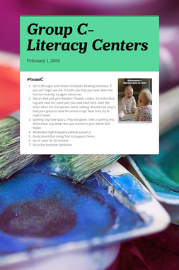Group C-Literacy Centers