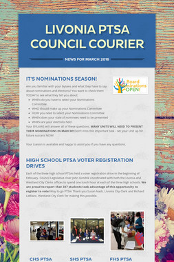 Livonia PTSA Council Courier