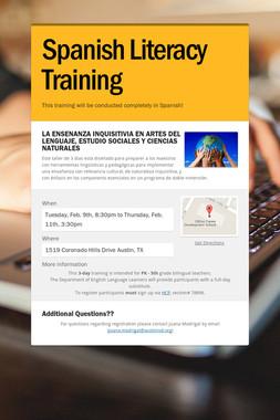 Spanish Literacy Training