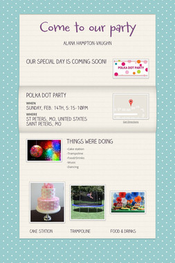 Come to our party