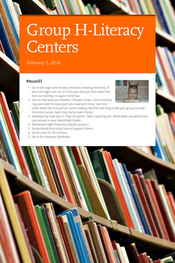 Group H-Literacy Centers