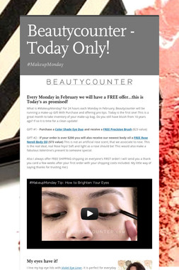 Beautycounter - Today Only!