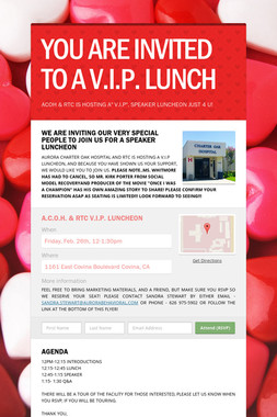 YOU ARE INVITED TO A V.I.P. LUNCH