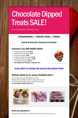 Chocolate Dipped Treats SALE!