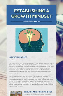 Establishing a Growth Mindset