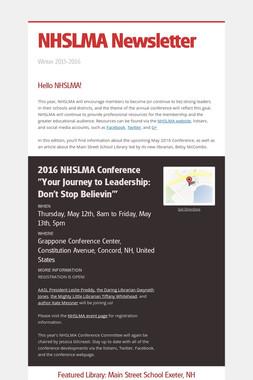 NHSLMA Newsletter