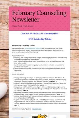 February Counseling Newsletter