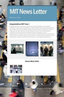 MIT News Letter