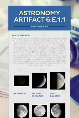 Astronomy Artifact 6.E.1.1