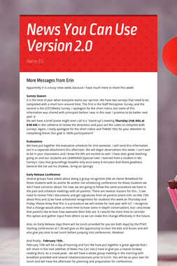 News You Can Use Version 2.0