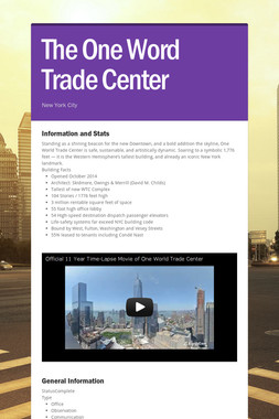 The One Word Trade Center