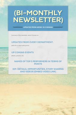 (bi-monthly newsletter)