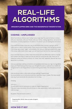 Real-life Algorithms