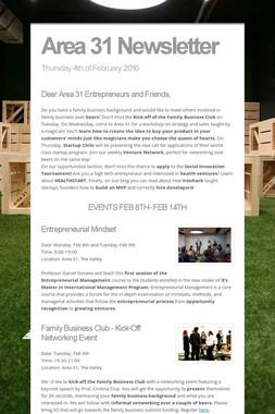 Area 31 Newsletter