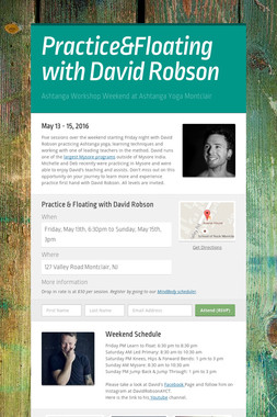 Practice&Floating with David Robson