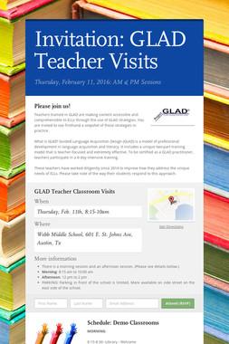 Invitation:  GLAD Teacher Visits