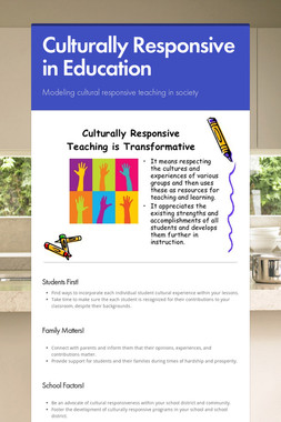 Culturally Responsive in Education