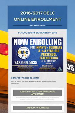 2016/2017  OELC Online Enrollment