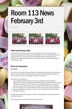 Room 113 News February 3rd