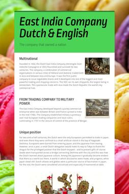 East India Company Dutch & English
