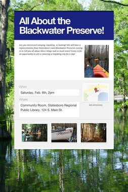 All About the Blackwater Preserve!