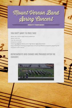 Mount Vernon Band Spring Concert