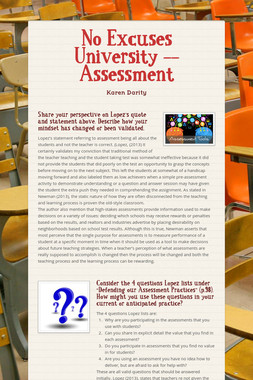 No Excuses University -- Assessment
