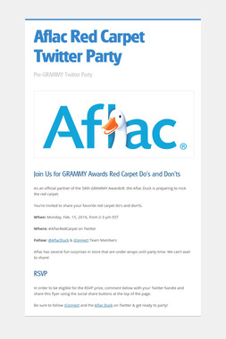 Aflac Red Carpet Twitter Party