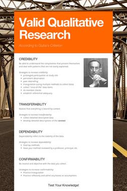 Valid Qualitative Research