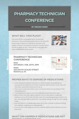 Pharmacy Technician Conference