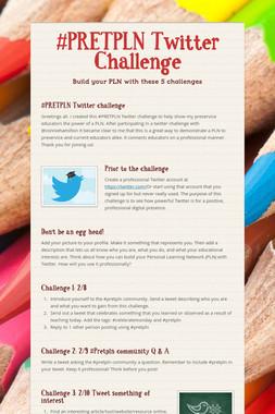 #PRETPLN Twitter Challenge