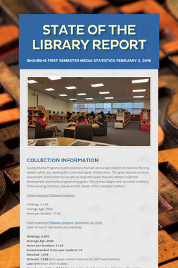 State of the Library Report