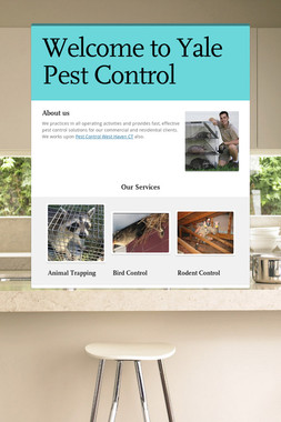 Welcome to Yale Pest Control