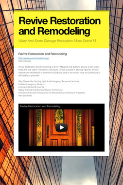 Revive Restoration and Remodeling