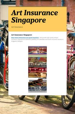 Art Insurance Singapore