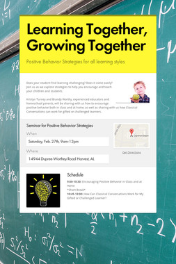 Learning Together, Growing Together