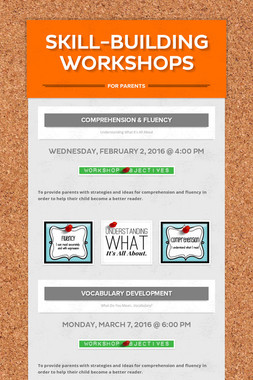 Skill-Building Workshops