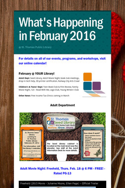What's Happening in February 2016