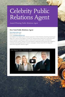 Celebrity Public Relations Agent