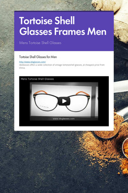 Tortoise Shell Glasses Frames Men
