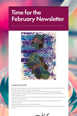 Time for the February Newsletter