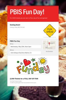PBIS Fun Day!