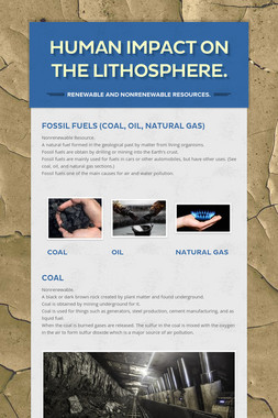 Human Impact on the Lithosphere.