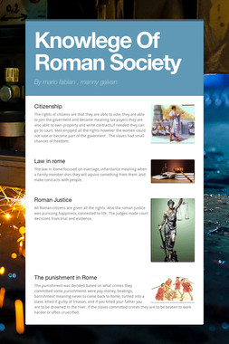 Knowlege Of Roman Society