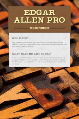 Edgar Allen Pro