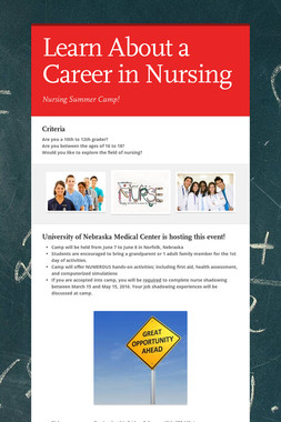Learn About a Career in Nursing