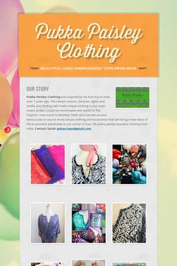 Pukka Paisley Clothing